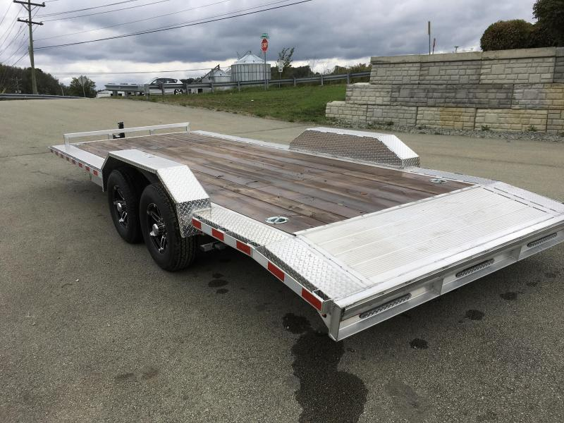 "2018 H&H 102""x20' 9990# Low Profile Aluminum Car Hauler * BUGGY HAULER * LOADED * CLEARANCE PRICED & FREE ALUMINUM SPARE"