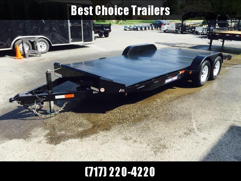2018 Sure-Trac 7x18 9900# Steel Deck Car Trailer Low Profile/Low Angle DROP LEG JACK