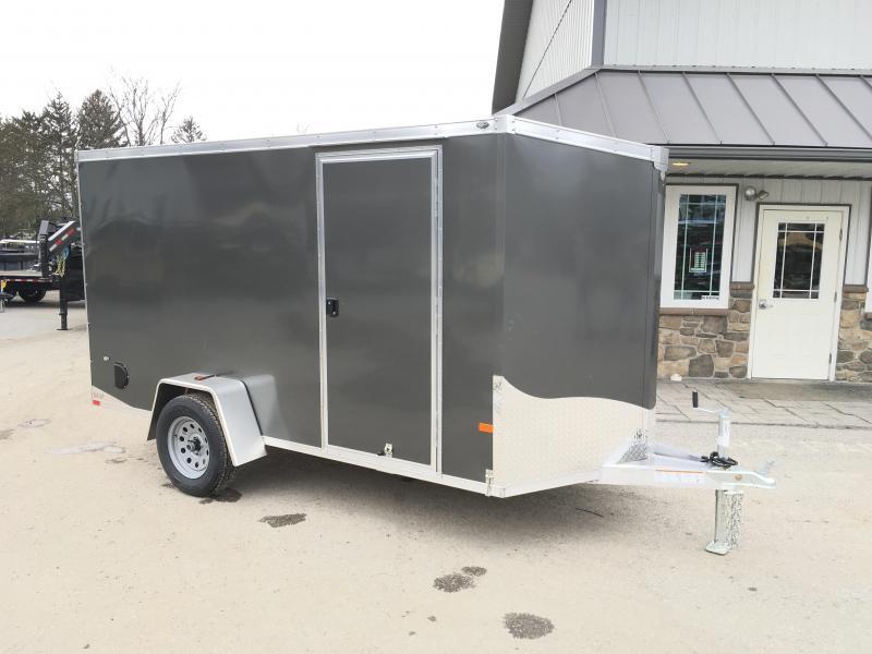 2018 Neo 6x12 NAVF Aluminum Enclosed Cargo Trailer * RAMP DOOR * CHARCOAL