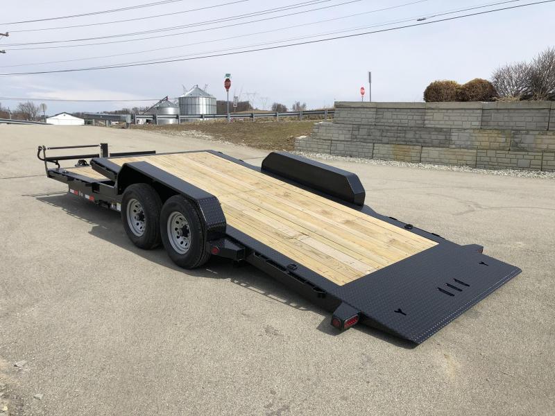 2019 Ironbull 7x16+6 Gravity Tilt Equipment Trailer 14000# TORSION * STOP VALVE * SUPER LOW LOAD ANGLE