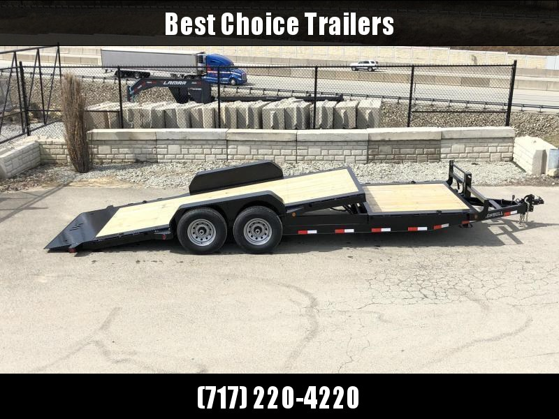 2019 Ironbull 7x16+6 Gravity Tilt Equipment Trailer 14000# TORSION * STOP VALVE * SUPER LOW LOAD ANGLE