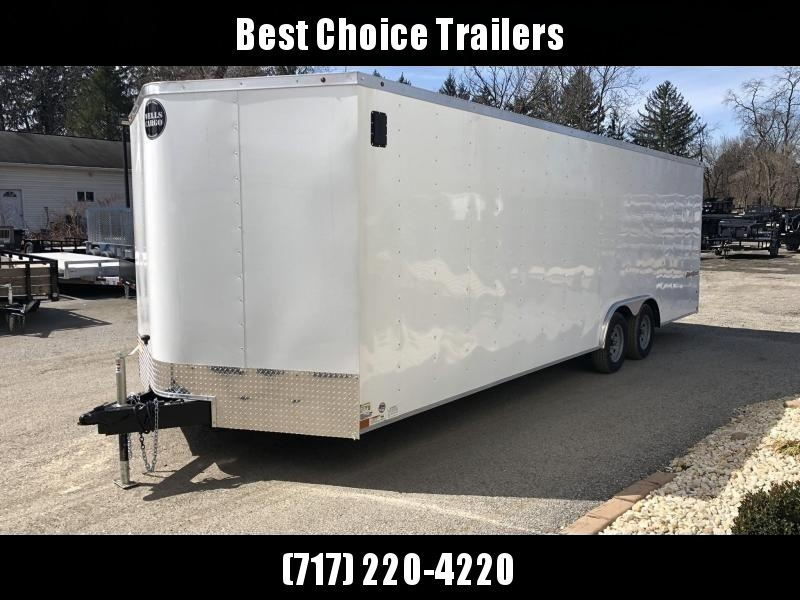 2019 Wells Cargo 8.5x24' Fastrac Enclosed Car Trailer 7000# GVW * WHITE EXTERIOR * RAMP DOOR