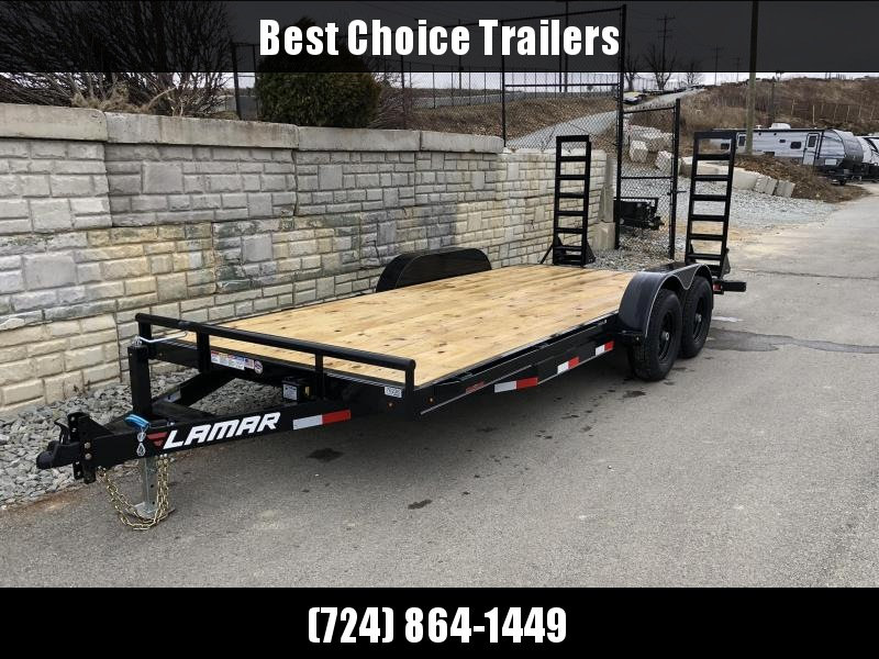 2019 Lamar 7x18' 9990# Lowboy Equipment Trailer * DROP LEG JACK * ADJUSTABLE COUPLER * REMOVEABLE FENDERS