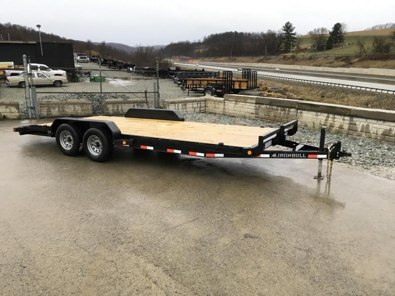 2018 Iron Bull 7x18' Wood Deck Car Trailer 9990# GVW * CLEARANCE - FREE ALUMINUM WHEELS