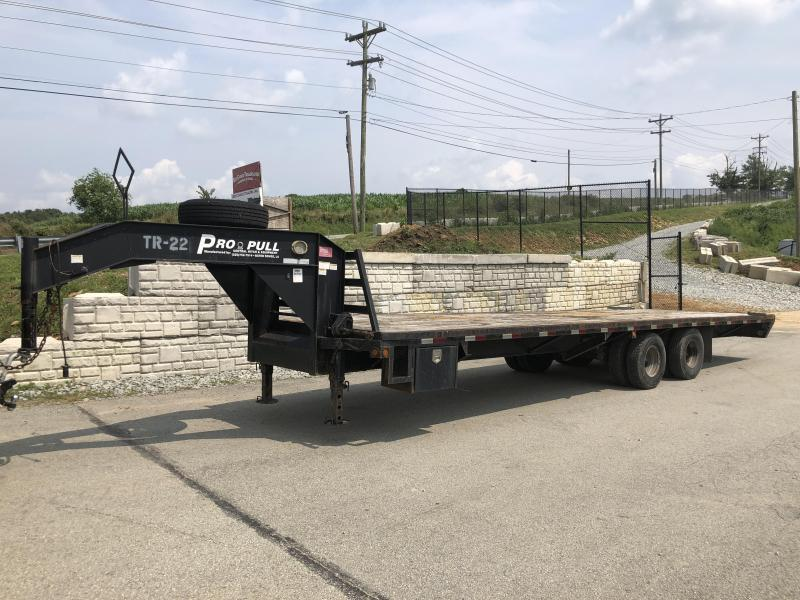 "USED 2009 Central 102""x30' Gooseneck Deckover Flatbed 23000# GVW - Electric over Hydraulic Brakes"