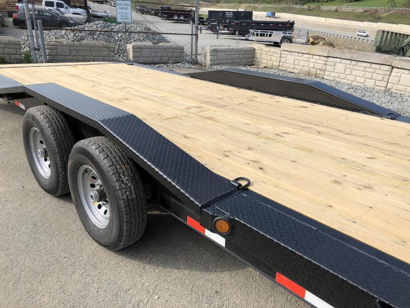"""2019 Ironbull 102x34' Gooseneck Car Hauler Equipment Trailer 14000# GVW * 102"""" Deck * Drive Over Fenders * Extended 4' dovetail * Winch plate"""