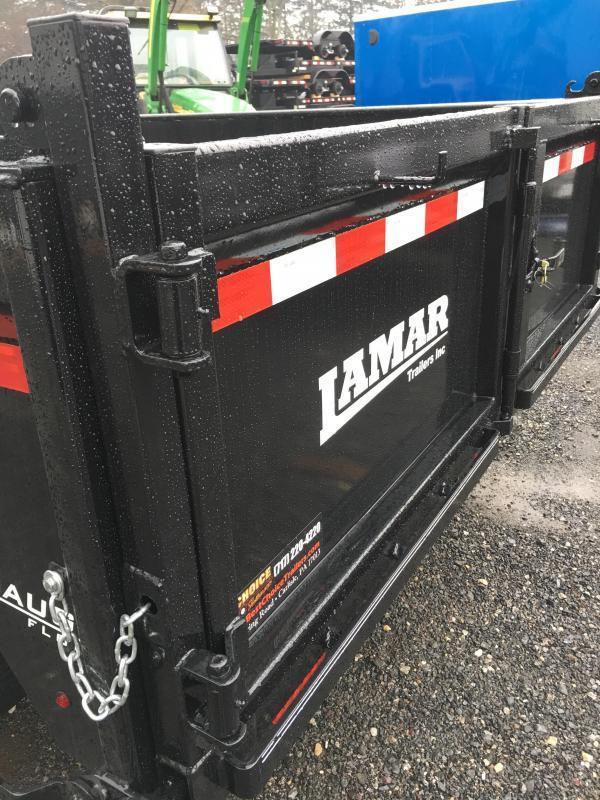 2018 Lamar 7x14' Dump Trailer 14000# GVW * TARP * 12K JACK * SPARE MOUNT * 7 GAUGE * SCISSOR