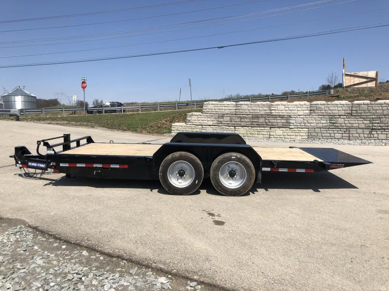2018 Sure-Trac 7x18' Gravity Tilt Equipment Trailer 16000# GVW - 8000# AXLES