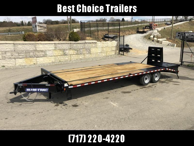 "2020 Sure-Trac 102""x20+5' LowPro Beavertail Deckover Trailer 22500# GVW * 10000# AXLES * PIERCED FRAME * FULL WIDTH RAMPS * 12"" I-BEAM"