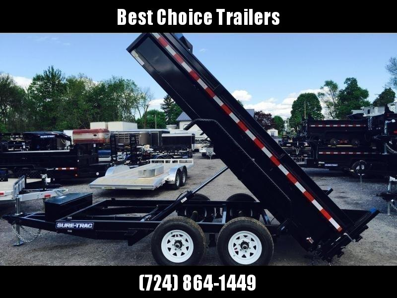 2019 Sure-Trac 6x12' Dump Trailer 9900# GVW - DROP LEG JACK UNDERMOUNT RAMPS COMBO GATE