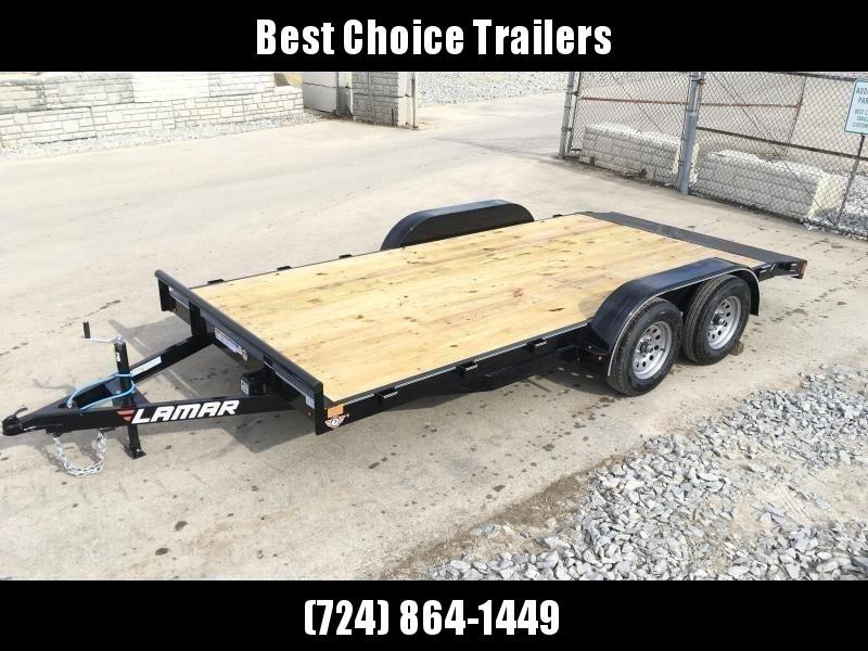 2018 Lamar 7x20 7000# Wood Deck Car Hauler Trailer * ADJUSTABLE COUPLER * REMOVABLE FENDERS * EXTRA STAKE POCKETS * CHARCOAL