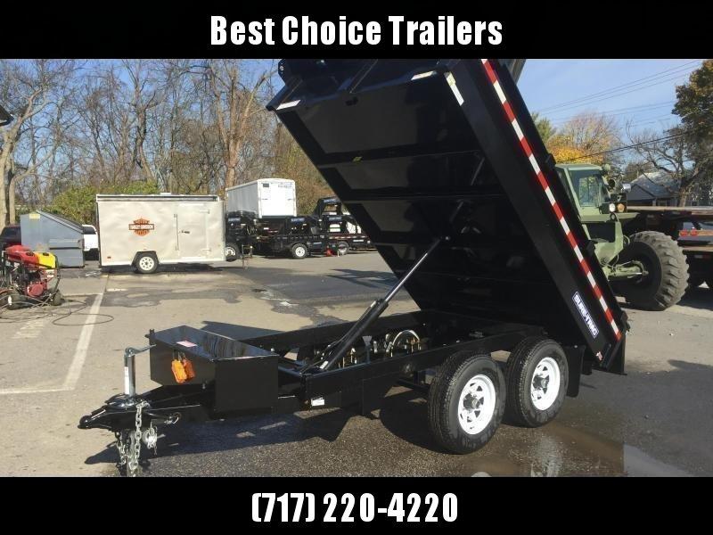 2018 Sure-Trac 6x10' SD Deckover Dump Trailer 7000# GVW * FREE ALUMINUM WHEELS