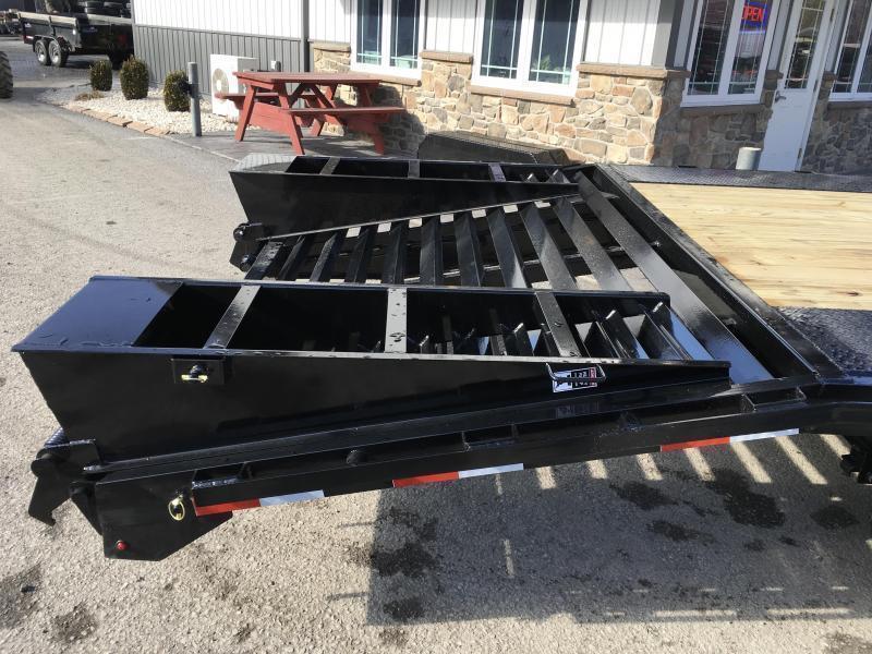2019 Lamar F8 102x24' Beavertail Deckover Trailer 14000# GVW * 2 FLIPOVER RAMPS