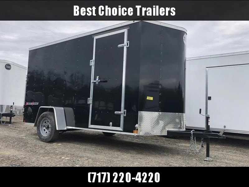 "2019 Wells Cargo 6x12' Fastrac Enclosed Cargo Trailer 2990# GVW * BLACK EXTERIOR * RAMP DOOR * 6'6"" HEIGHT * .030 ALUMINUM * 1PC ROOF * TIE DOWNS"