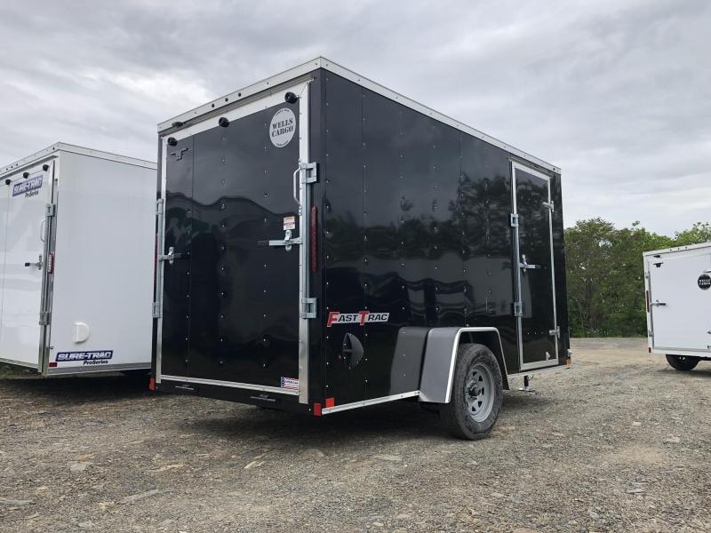 "2019 Wells Cargo 6x12' Fastrac Enclosed Cargo Trailer 2990# GVW * BLACK EXTERIOR * RAMP DOOR * 6'6"" HEIGHT * .030 ALUMINUM * 1PC ROOF * TIE DOWNS"