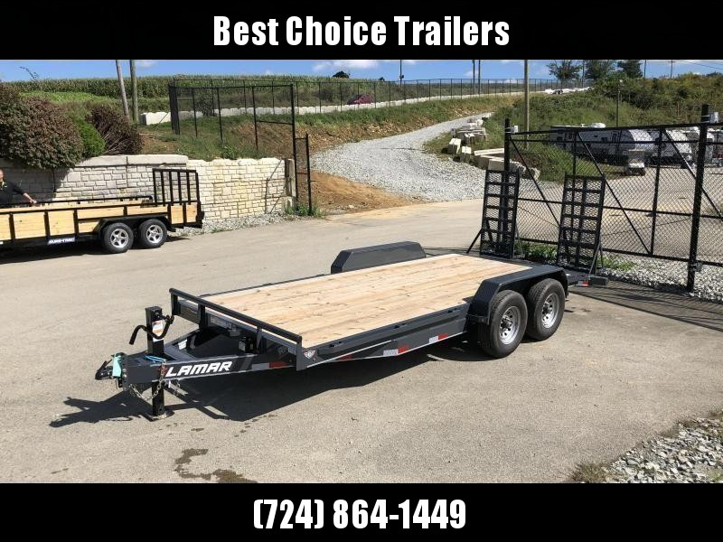 2019 Lamar 7x18' H6 Equipment Trailer 14000# GVW * DELUXE RAMPS * CHARCOAL POWDERCOAT