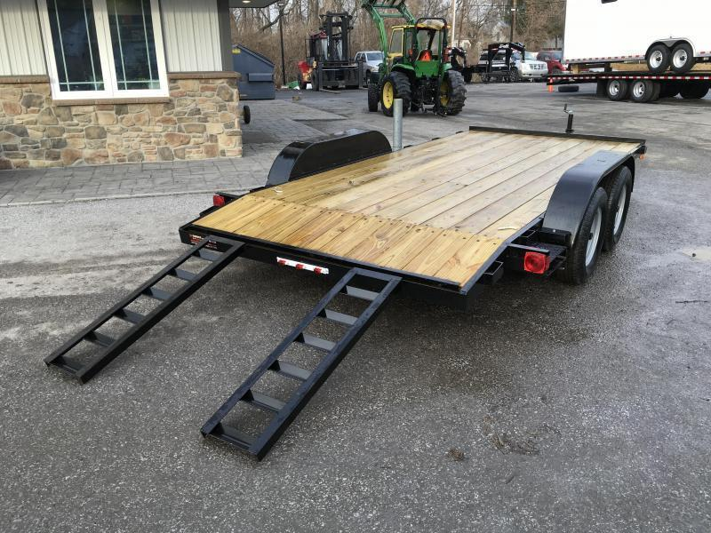 2019 AMO 7x16' Wood Deck Car Trailer 7000# GVW