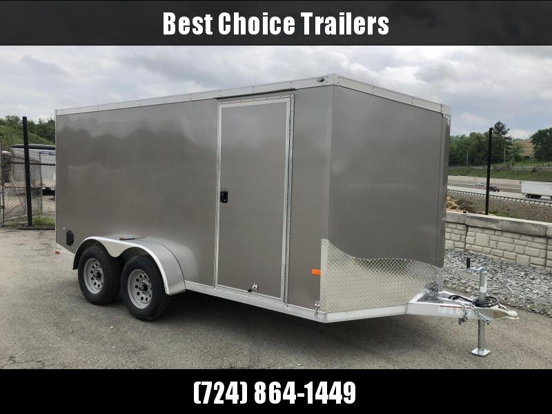 2018 Neo 7x14' NAVF Aluminum Enclosed Cargo Trailer * RAMP DOOR * PEWTER