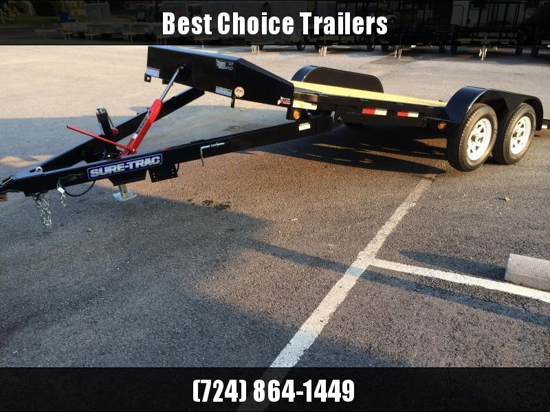 2017 Sure-Trac 7x20' 7000# Manual Tilt Wood Deck Car Hauler