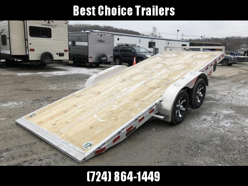 2019 H&H 7x20' Manual Tilt Aluminum Car Hauler 9990# GVW * 4 SWIVEL D-RINGS * 4 EXTRA STAKE POCKETS