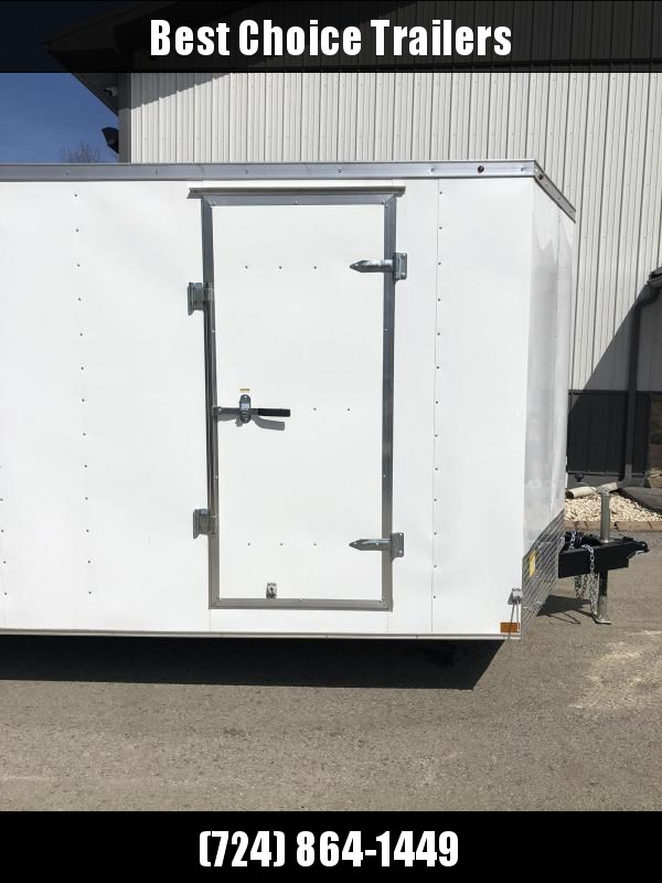 2019 Wells Cargo 8.5x20' Fastrac Enclosed Car Trailer 7000# GVW * WHITE EXTERIOR * RAMP DOOR