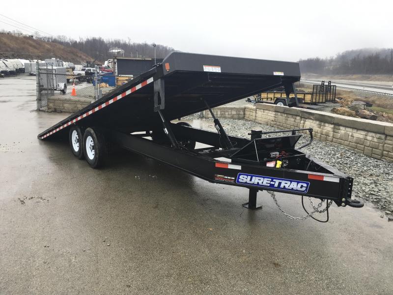 2018 Sure-Trac 102x22' Power Tilt Deckover 15000# GVW * WINCH PLATE * OAK DECK