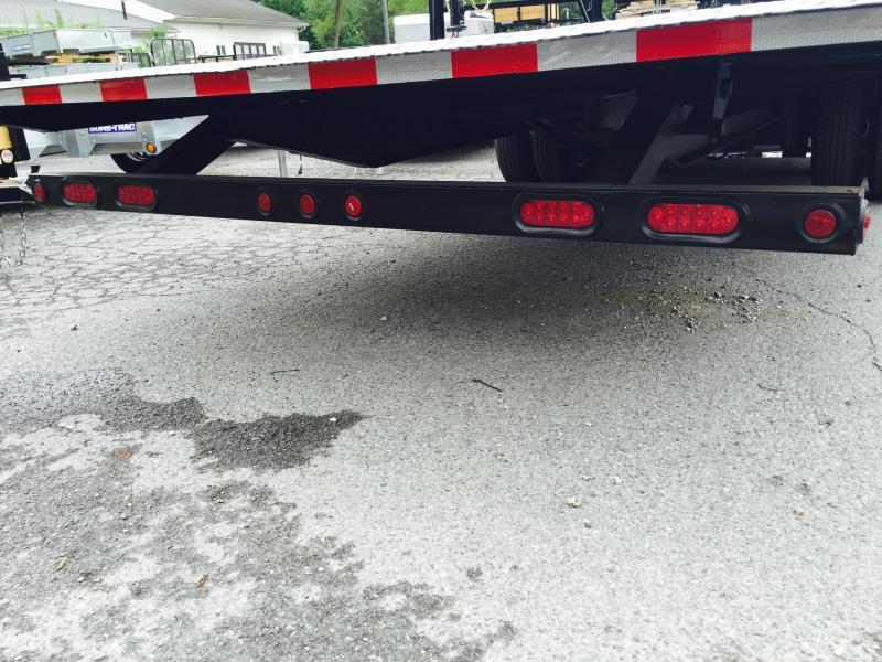 "2018 Sure-Trac 102""x22'+10' Hydraulic Dovetail Deckover Trailer 22500# GVW - MUD FLAPS"