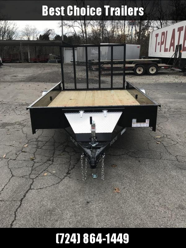 """2018 Rice 76""""x10' Pipe Top Utility Landscape Trailer 2990# GVW RSP7610 * PIPE TOP * TUBE GATE * FRONT TOOLBOX * CLEARANCE - FREE ALUMINUM WHEELS"""