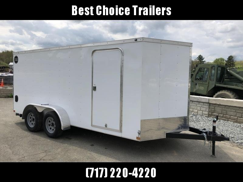 2018 Wells Cargo 7x16' VG100 Enclosed Cargo Trailer 7000# GVW * WHITE