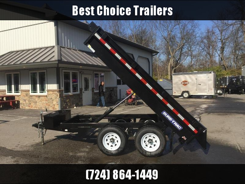 2018 Sure-Trac 6x10' 9900# SD Deckover Dump Trailer