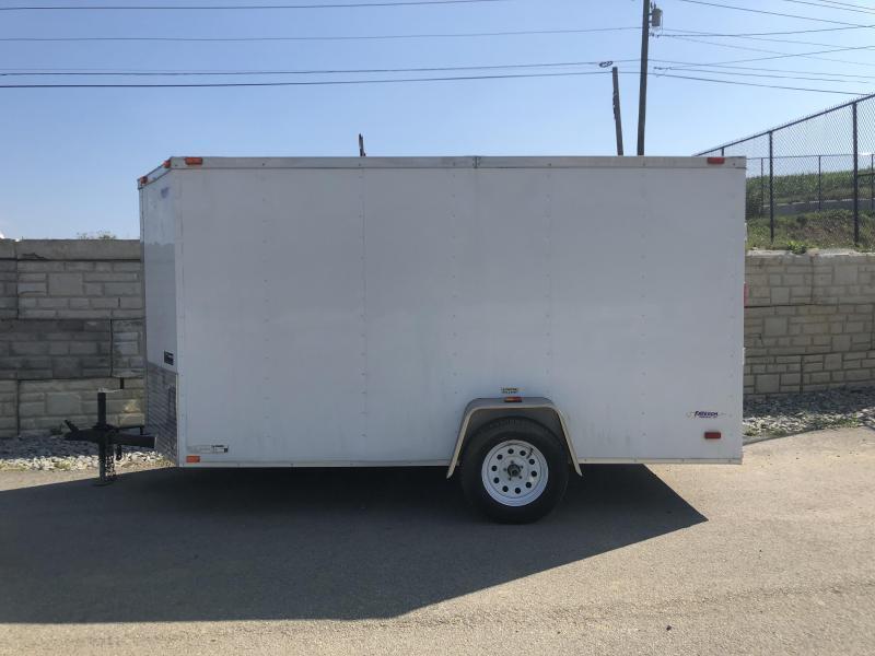 2019 Freedom 6x12' Enclosed Cargo Trailer 2990# GVW * RAMP * WHITE