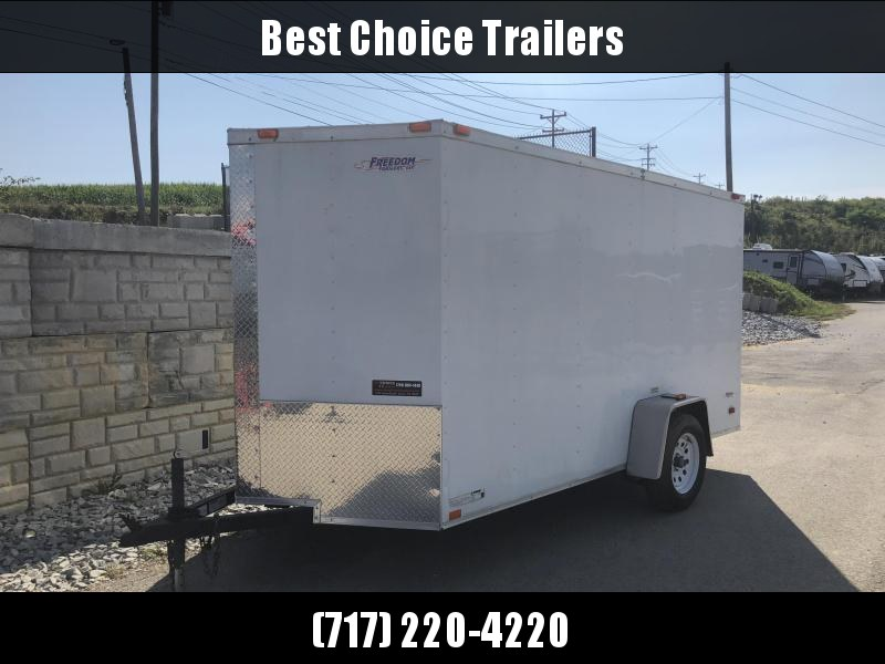 2019 Freedom 6x12' Enclosed Cargo Trailer 2990# GVW * RAMP * WHITE