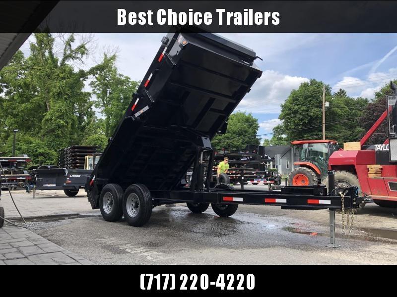 2019 Iron Bull 7x14' Dump Trailer 14000# GVW RAMPS * TARP * SCISSOR * I-BEAM FRAME