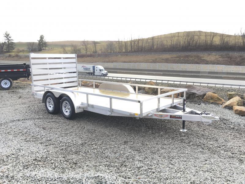 2018 H&H 7x16' TRSA Aluminum Utility Landscape Trailer 7000# GVW