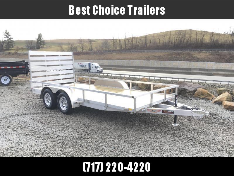 2018 H&H 7x16' TRSA Aluminum Utility Landscape Trailer 7000# GVW * CLEARANCE - FREE ALUMINUM SPARE