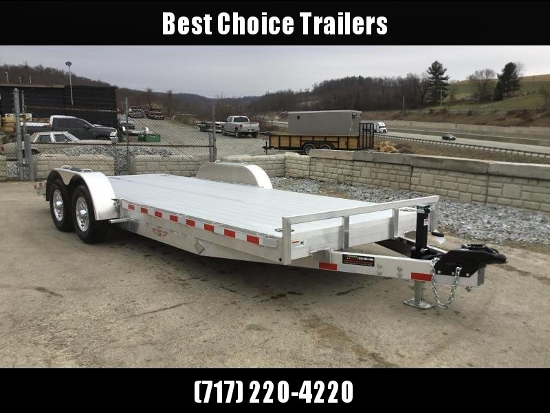 "2019 H&H 7x20' Aluminum Car Trailer 9990# GVW * LOADED * EXTRUDED ALUMINUM FLOOR * 8"" HD FRAME * TORSION AXLES * SWIVEL D-RINGS * EXTRA STAKE POCKETS * SPARE MOUNT"