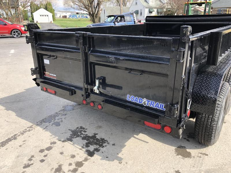 "2019 Load Trail 6x10' Dump Trailer 9990# GVW * DT7210052 * 2' SIDES * 3-WAY GATE * I-BEAM FRAME * TARP KIT * SCISSOR HOIST * 16"" RUBBER * 6"" TUBE BED FRAME * 110V CHARGER * DEXTER'S * 2-3-2 * POWDER PRIMER"