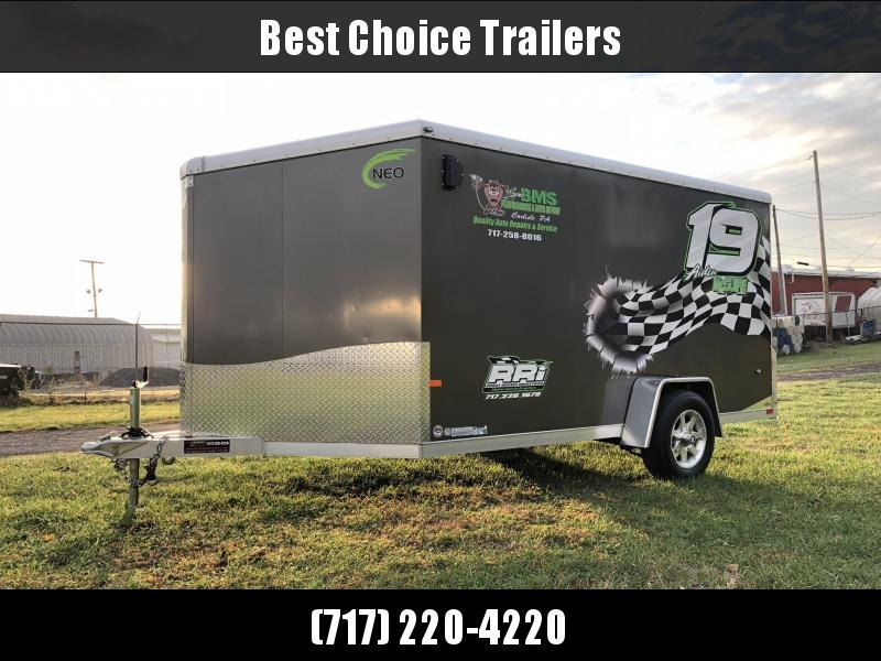 2017 Neo 7x12 NAMR Aluminum Enclosed Motorcycle Trailer * CHARCOAL *