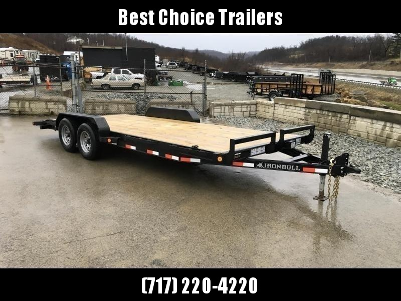 2019 Iron Bull 7x18' Wood Deck Car Trailer 9990# GVW