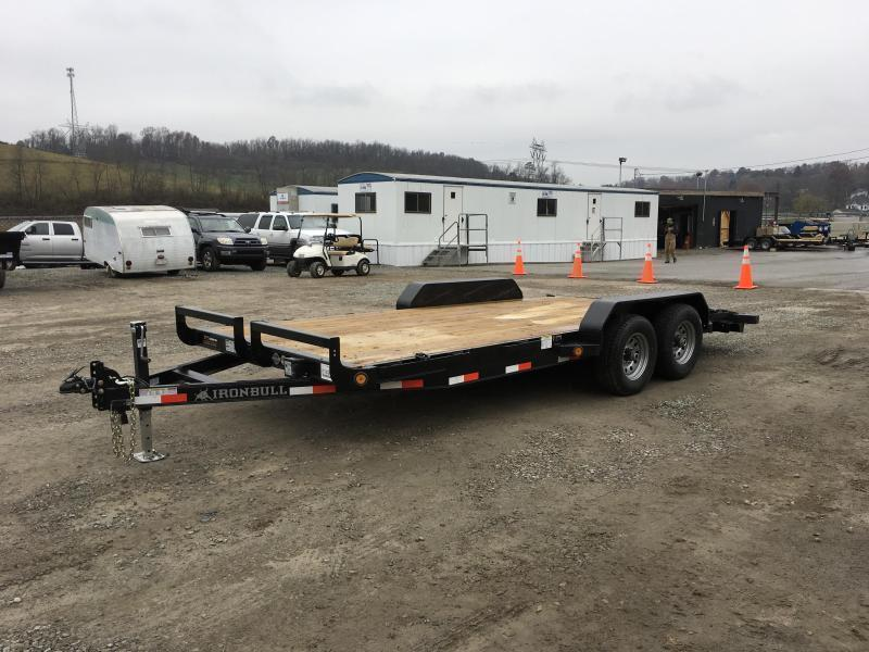 2018 Iron Bull 7x16' Wood Deck Car Trailer 9990# GVW
