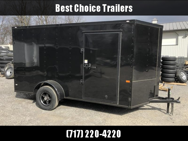 2019 Rock Solid 6x12' Enclosed Cargo Trailer 2990# GVW * RS612SA * BLACKOUT PACKAGE * BLACKOUT ALUMINUM WHEELS * ATP FENDERS * V-NOSE * RAMP DOOR in Ashburn, VA