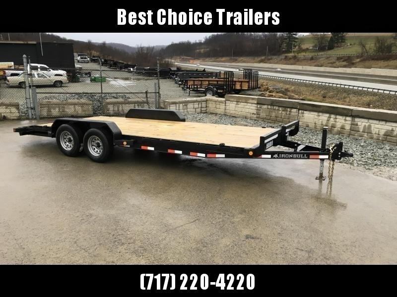 """2019 Ironbull 7x20' Wood Deck Car Hauler Trailer 9990# GVW * OVERWIDTH RAMPS * 16"""" O.C. FLOOR * CHANNEL C/M * RUBRAIL/STAKE POCKETS/PIPE SPOOLS/D-RINGS"""