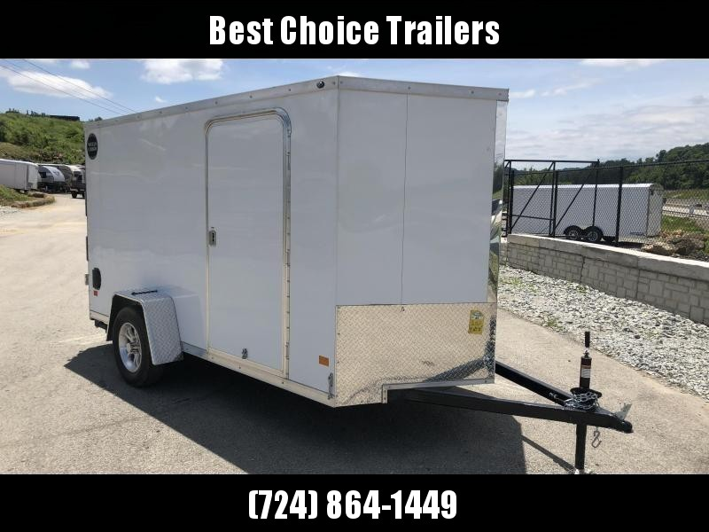 2018 Wells Cargo 6x12' VG500 Enclosed Cargo Trailer 2990# GVW * WHITE * RAMP DOOR * CLEARANCE - FREE ALUMNIUM SPARE