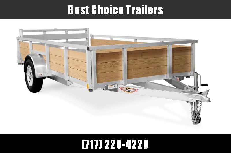 "2019 H&H 76""x12' Aluminum Wood High Side Utility Landscape Trailer 2990# GVW * BI FOLD GATE * ALUMINUM WHEELS"