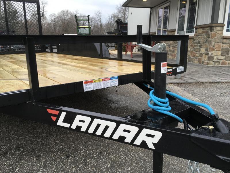 """2019 Lamar 77""""x14' Utility Landscape Trailer 7000# GVW * CHARCOAL"""