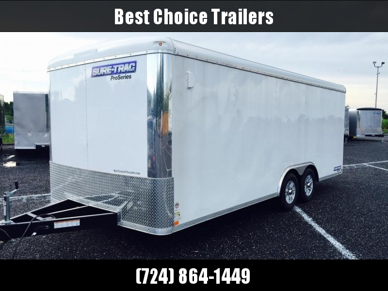 2017 Sure-Trac 8.5x24 Round Top Car Hauler 9900# GVW WHITE
