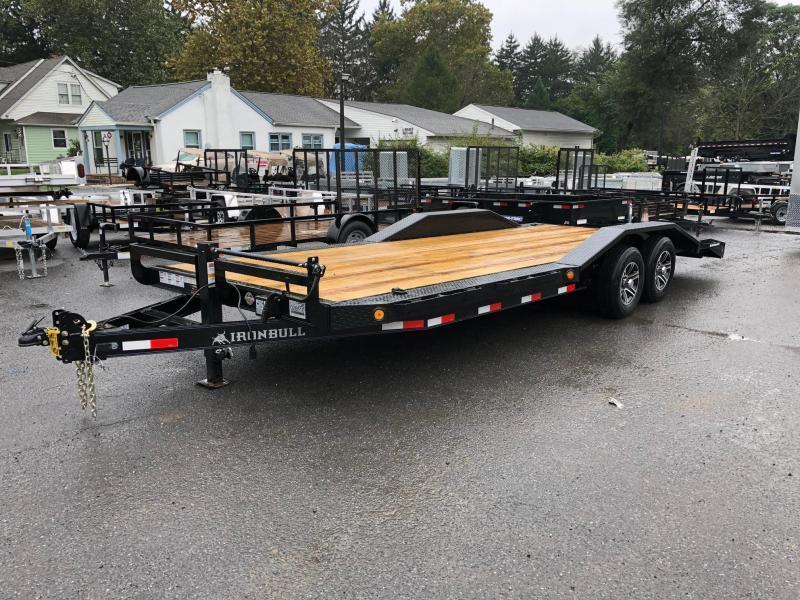 "2018 Iron Bull 102""x20' Wood Deck Car Trailer 9990# GVW * 102"" DECK * DRIVE OVER FENDERS * CLEARANCE - FREE ALUMINUM WHEELS"