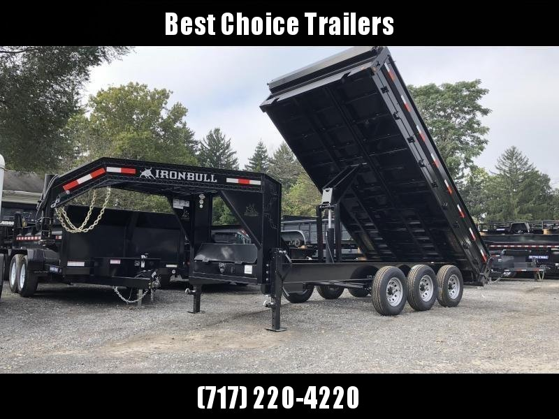 2019 Ironbull Gooseneck Deckover Dump Trailer 8x16' 21000# GVW * TARP KIT * TRIPLE AXLE in Ashburn, VA
