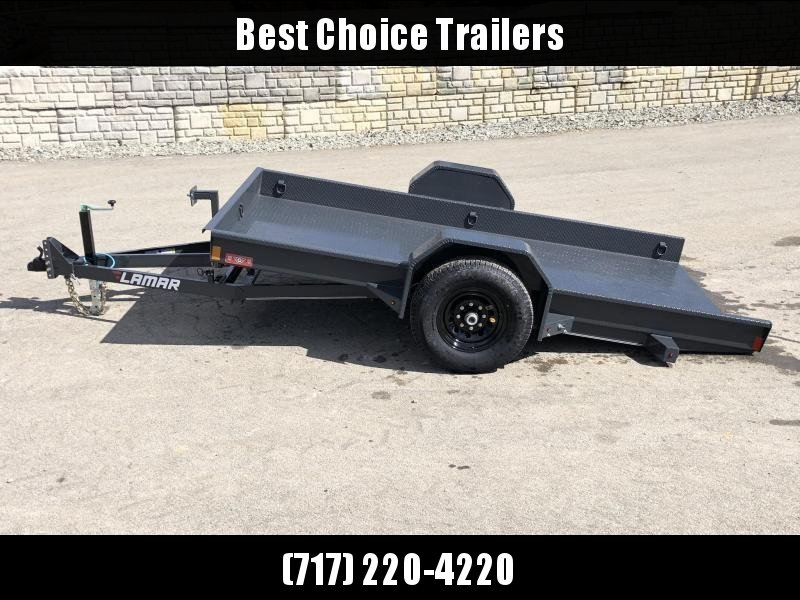 2019 Lamar 79X12' Single Axle Scissor Gravity Tilt Equipment Trailer 7000# * SH791217 * TORSION * STEEL FLOOR 3/16 * WRAPPED SIDES * EXTRA D-RINGS * SPARE MOUNT * CHARCOAL in Ashburn, VA
