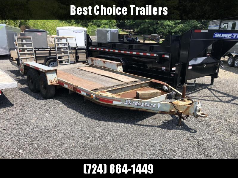 USED 1996 International 7x20' Equipment Trailer